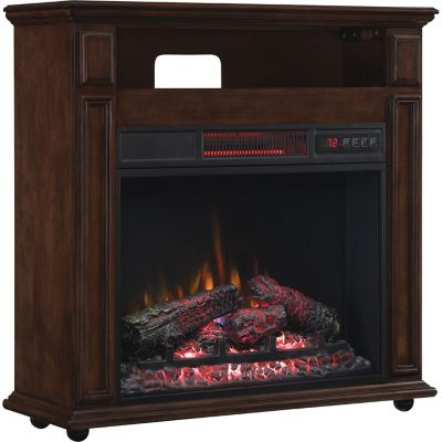 ClassicFlame Rolling Mantel with Infrared Quartz Electric Fireplace