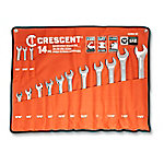 Crescent 14-Piece Combo Wrench Set with Pouch, SAE