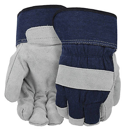West Chester Men's Split Cowhide Leather Palm Gloves with POSI-THERM Lining