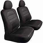 Bully Black Canvas Low Back Seat Cover, 1 Pair