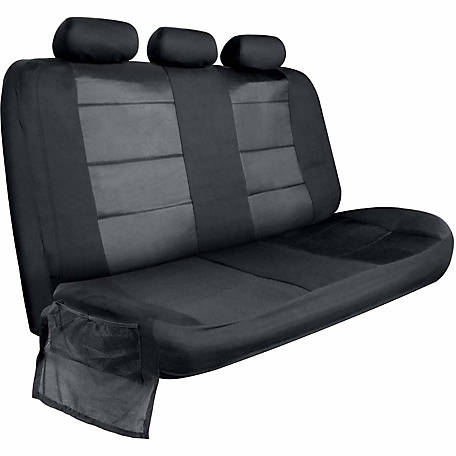 Car Bench Seat Covers >> Bully Black Canvas Rear Bench Seat Cover With Side Flaps At Tractor