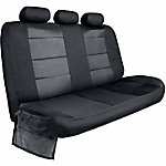 Bully Black Canvas Rear Bench Seat Cover with Side Flaps