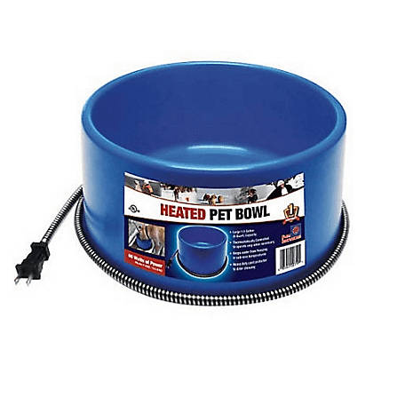 Farm Innovators Round Heated Pet Bowl, 6 qt.