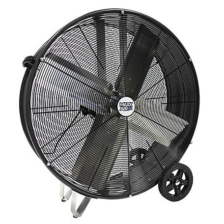 Ventamatic 30 in. Drum Fan, Black, BF30DDBLKPROUPS