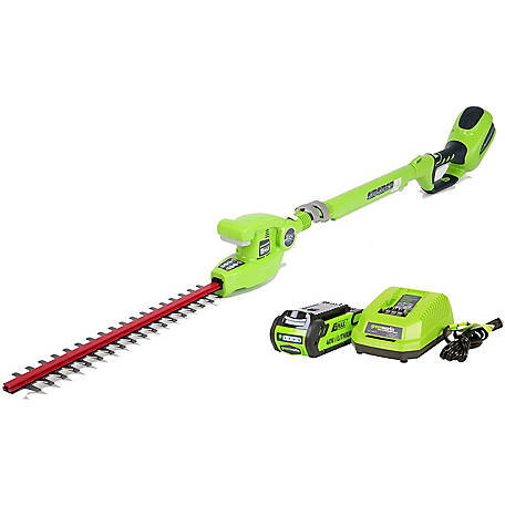 Greenworks 22342 G Max 40v 20 In Cordless Pole Hedge Trimmer Tool Only