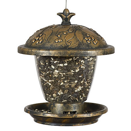 Perky-Pet 2 lb. Holly Berry Gilded Chalet Wild Bird Feeder, 305
