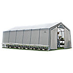 ShelterLogic GrowIt Backyard Raised Bed Greenhouse, 4 ft. x 4 ft. x 1-8/9 ft., Round Style