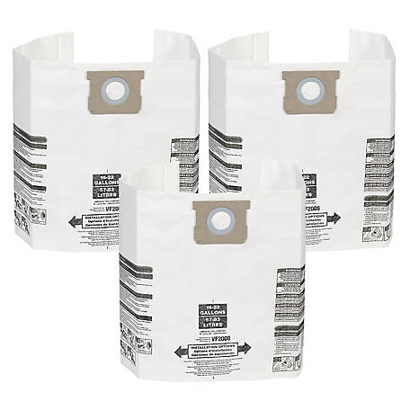 Multi-Fit Wet/Dry Vacuum Bags VF2008 General Dust Filter Bag