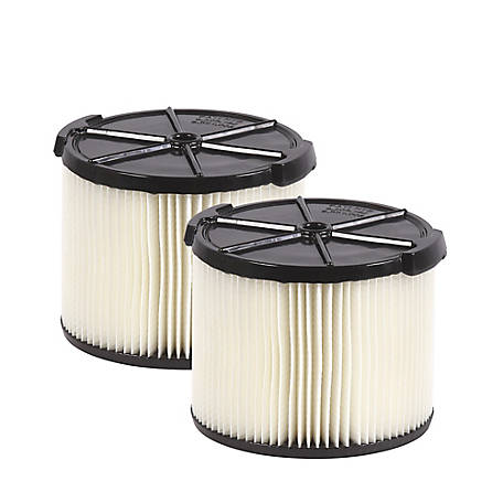 Workshop Wet/Dry Vacuum Filters WS11045F2 Standard Wet/Dry Vacuum Filters, Pack of 2