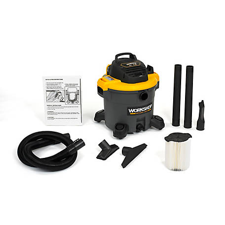 Workshop Wet/Dry Vac WS1200VA, 12-Gallon Shop Vacuum Cleaner, 5.0 Peak HP Wet And Dry Vacuum
