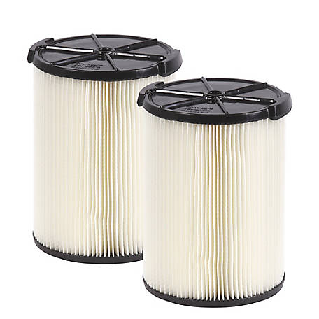 Workshop Wet/Dry Vacuum Filters WS21200F2 Standard Wet/Dry Vacuum Filters, Pack of 2