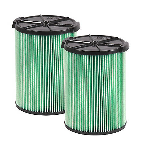 Workshop Wet/Dry Vacuum Filters WS23200F2 HEPA Media Filter for Shop Vacuum Cleaner, Pack of 2
