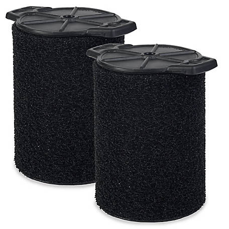 Workshop Wet Vacuum Filters WS24200F2 Foam Filter for Wet/Dry Vacuum Cleaner, Pack of 2