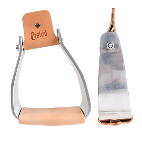 Cashel 3 in. Slanted Stirrup, 3 in. Leather Tread