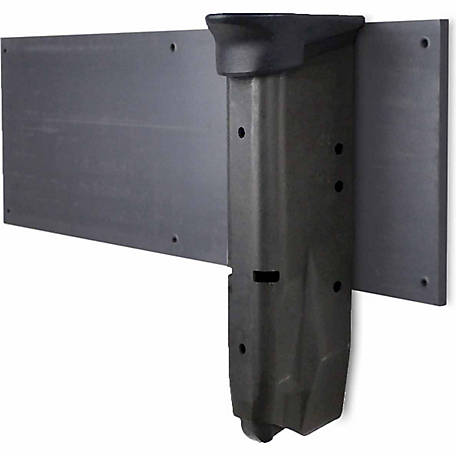 Gun Storage Solutions Mag Mount, Charcoal Gray, 3 in. W x 10 in. H x 1/4 in. D