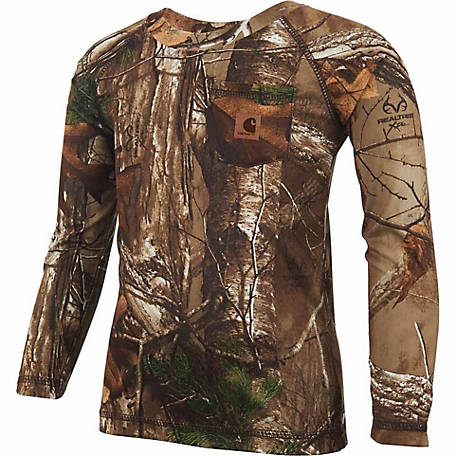 Carhartt Force Toddler Raglan Long Sleeve Realtree Xtra Pocket Tee