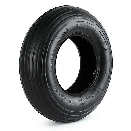 LawnProTires Tubeless Rib Tire, 400-6, 2 Ply, 406-2LW-I