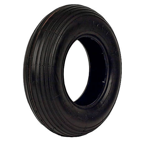 LawnProTires Tubeless Rib Tire, 480/400-8, 2 Ply, 408-2LW-I