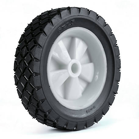 Martin Wheel 6X1.50 Light-Duty Plastic Wheel, 1/2 in. Bore, 1-3/8 in. Offset Hub, Diamond Tread