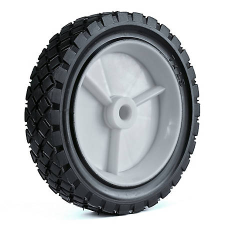 Martin Wheel 7X1.50 Light-Duty Plastic Wheel, 1/2 in. Bore, 1-3/8 in. Offset Hub, Diamond Tread