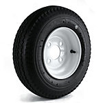 Kenda Loadstar Trailer Tire and 4-Hole Wheel (4/4), 480/400-8 LRB
