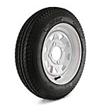 Kenda Loadstar Trailer Tire and 4-Hole Custom Spoke Wheel, 480-12 LRB