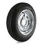 Kenda Loadstar Trailer Tire and 4-Hole Galvanized Spoke Wheel, 480-12 LRB