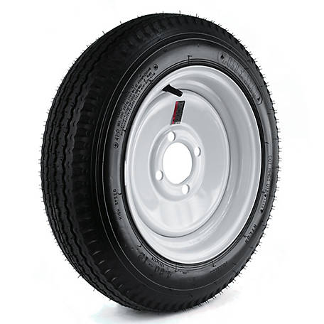 Kenda Loadstar Trailer Tire and 4-Hole Wheel, 480-12 LRB