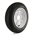 Kenda Loadstar Trailer Tire and 5-Hole Custom Spoke Wheel (5/4.5), 480-12 LRB