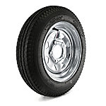 Kenda Loadstar Trailer Tire and 5-Hole Galvanized Spoke Wheel (5/4.5), 480-12 LRB