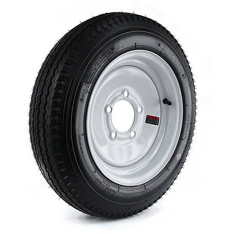 Kenda Loadstar Trailer Tire and 5-Hole Wheel (5/4.5), 480-12 LRB