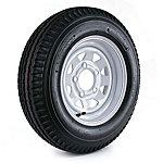 Kenda Loadstar Trailer Tire and 5-Hole Custom Spoke Wheel (5/4.5), 530-12 LRB
