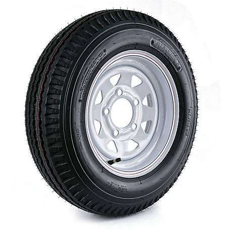 Kenda Loadstar Trailer Tire and 5-Hole Custom Spoke Wheel (5/4.5), 530-12 LRB, DM452C-5C-I
