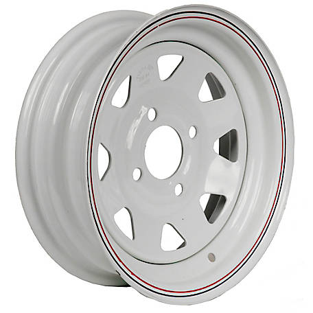 Martin Wheel 4-Hole Steel Custom Spoke Trailer Wheel, 12x4, 4 hole