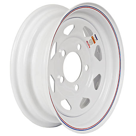 Martin Wheel 5-Hole Steel Custom Spoke Trailer Wheel, 12x4, 5 hole