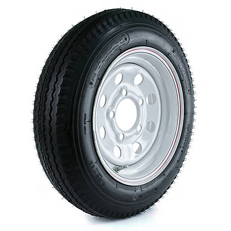 Kenda Loadstar Trailer Tire and 5-Hole Mod Wheel (5/4.5), 480-12 LRB