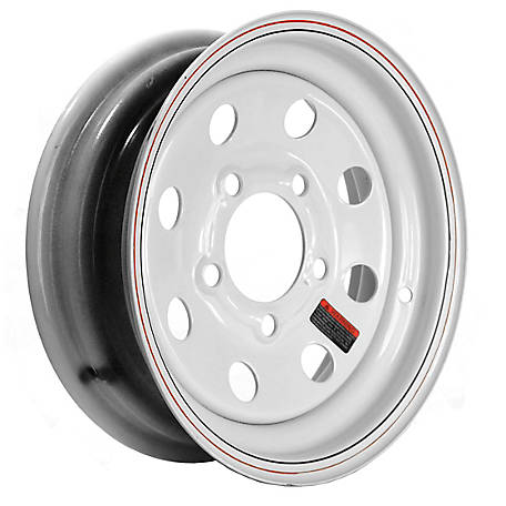 Martin Wheel 12 in. Steel Mod Trailer Wheel/Rim, 12X4 (5 Hole)