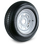Carrier Star Trailer Tire and 5-Hole Custom Spoke Wheel (5/4.5), 205/75D-15 LRC
