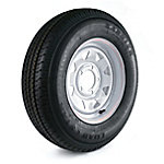 Kenda Carrier Star Trailer Tire and 5-Hole Custom Spoke Wheel (5/4.5), ST175/80D-13 LRC