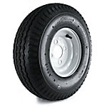 Kenda Loadstar Trailer Tire and 4-Hole Wheel (4/4), 570-8 LRB