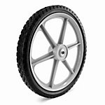 Martin Wheel 16x1.75 Plastic Spoke Semi-Pneumatic Wheel, 1/2 in. BB, 2-3/8 in. Centered Hub, Diamond Tread