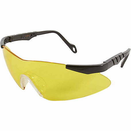 Allen Reaction Shooting Glasses, Gray Frames with Yellow Lenses