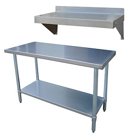 Sportsman Series Stainless Steel Table and Shelf Set