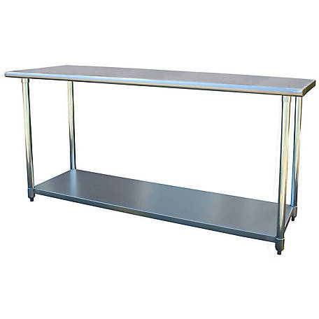 Sportsman Series Stainless Steel Work Table, 24 in. W x 72 in. L