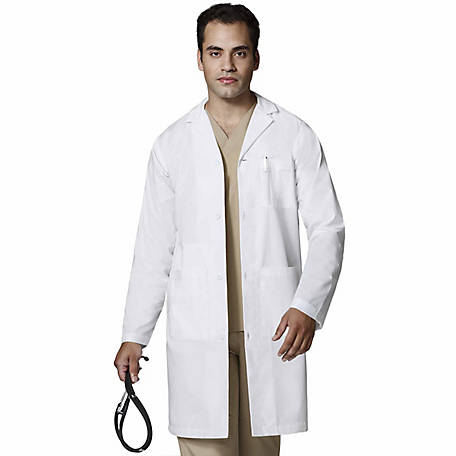 WonderWink Men's WonderLab Long Coat, Big and Tall Fit