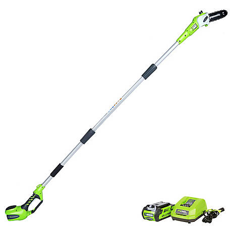 Greenworks 20672 G-MAX 40V 8 in. Cordless Pole Saw