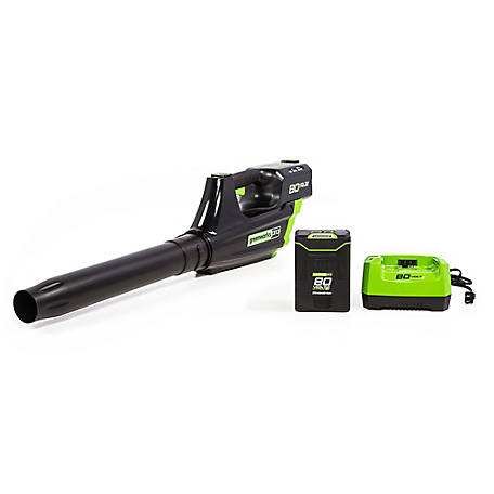 Greenworks Pro GBL80300 80V 125 MPH - 500CFM Cordless Blower with (1) 2.0ah Battery and Charger, 2400102