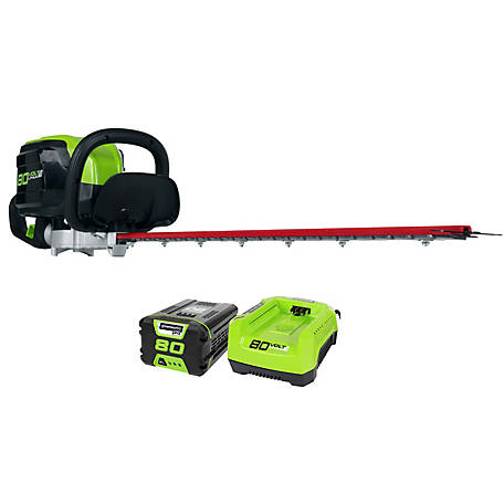 Greenworks GHT80321 80V 26 in. Cordless Hedge Trimmer, 22372