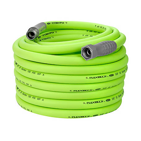 FlexZilla Garden Hose, 5/8 in. x 100 ft., 3/4 in., 11 1/2 GHT Fittings, HFZG5100YW