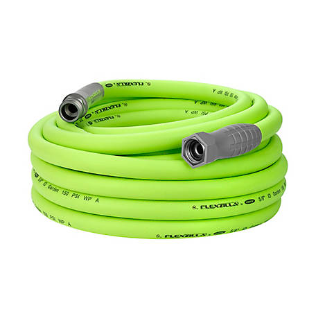 Flexzilla Garden Hose, 5/8 in. x 50 ft., 3/4 in. - 11 1/2 GHT Fittings, HFZG550YW